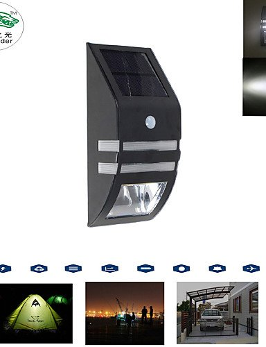 GXS/Zweihnder Solar Panel Powered Echthaar Body Motion Sensor Wall Lampen Hyundai Solaris Garten Outdoor Wandleuchte Night Lights weiß Solaris-panels