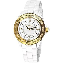 Stella Maris STM15E5 - Montre Femme Cadran blanc Quartz Analogique Bracelet Céramique blanc avec diamants et éléments Swarovski