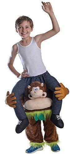 Jungen oder Mädchen Schritt Darauf reiten Schweinchen Rücken Animal Büchertag Halloween Kostüm Kleid Outfit - Affe, One Size, (Outfit Affen)