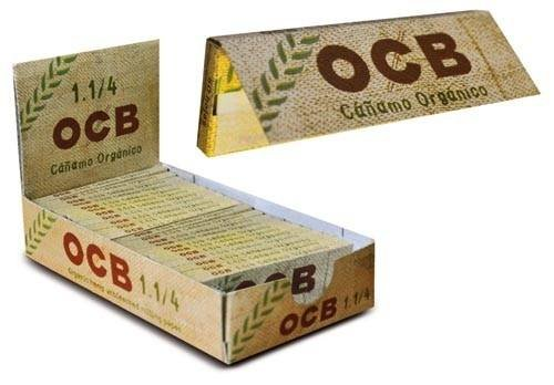 OCB Carta Fumare Ultra Sottile Canapa Biologico Pack X 25 cartine