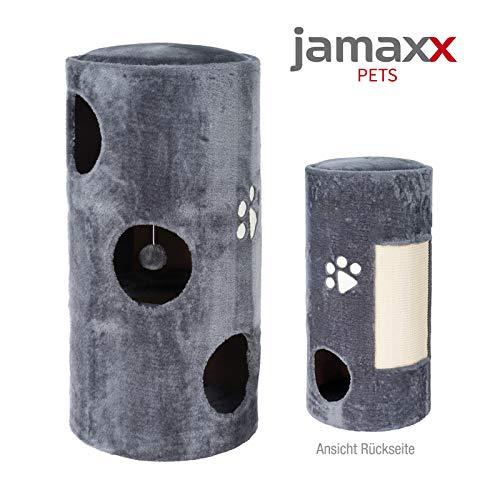 JAMAXX Katzen Kratztonne 78 cm Soft-Plüsch Kratzbaum mit Sisal-Kratzteppich