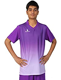 Triumph Men's Polyester Soccer Purple V Neck Uniform