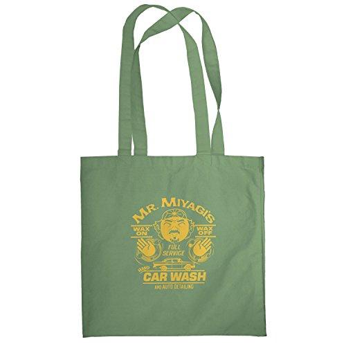 Texlab–Mr. Miyagi S Car Wash–sacchetto di stoffa Oliva