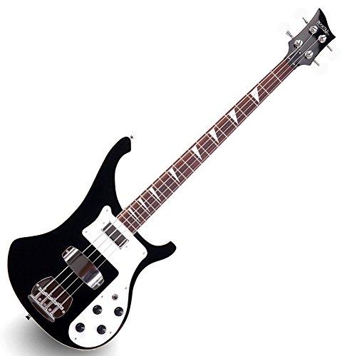 Rocktile Pro RB-400B Blackbird E-Bass (Longscale, Humbucker, Single Coil, eingeleimter Hals) schwarz