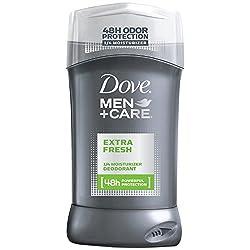 Dove Men Plus Care Dove Deodorant Stick, Moisturizer With Extra Fresh 3 Ounce