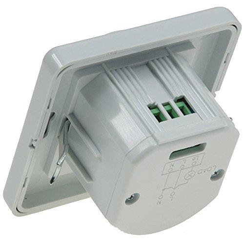Unterputz PIR-Bewegungsmelder 160° LED geeignet - 3