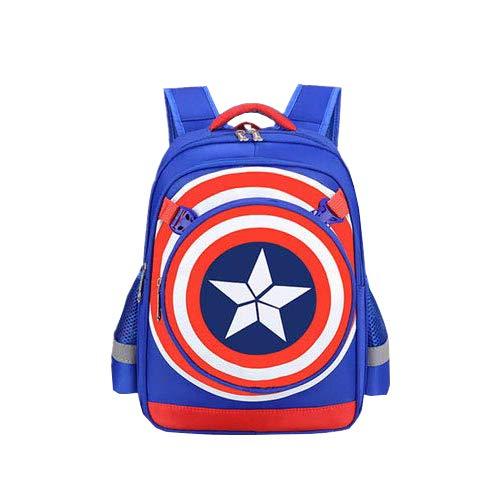 Captain America Schulranzen - Mit Hohen Kapazität Rucksack Guards Kapitän Azur Trompete 28 * 15 * 39