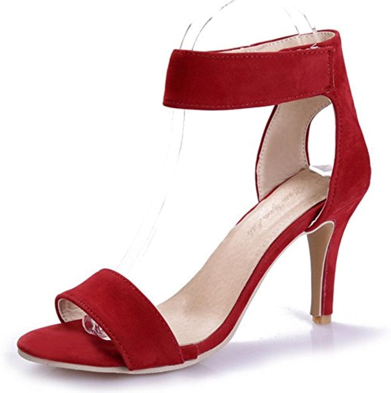 les sandales de de de longfengma femmes sexy stiletto talon haut fermeture velcro 44ff04