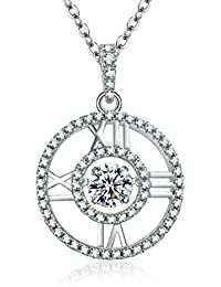 ♥Mother's Day Gifts♥- Jewelry Roman Numeral 'Remember me' Necklace Circle Necklace RAYDOES CZ Pendant Necklace for Women Happy Easter
