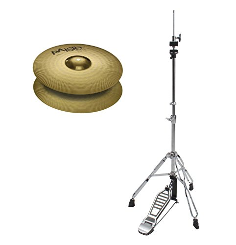 "Paiste 101 Brass 14\"" Hi-Hat Set (MS63 Messing, ausgewogener Klang, für jede Stilrichtung geeignet, inkl. HiHat Maschine)"