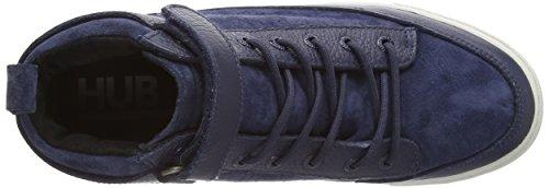 Hub Akita L37, Derbies à lacets femme Bleu - Blau (Dark Blue/Lite Grey 027)