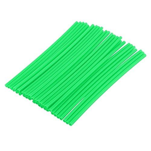 36 Stück/Packung Radspeichen-Hüllen für Motorradfelgen, als Dekoration und Schutz, plastik, grün, Einheitsgröße