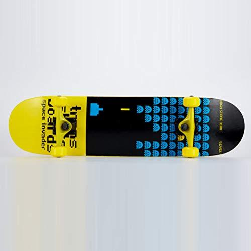 BIN Skateboards Kinder es Vierräder Skateboard Double Rocker Custom Maple Wood Street Skateboard Großkreativer Scooter