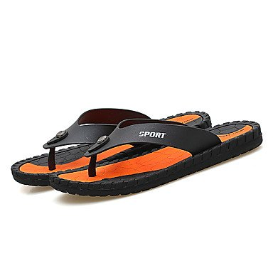Slippers & amp da uomo;Pelle leggera estiva Soles microfibra all'aperto Sandali con tacco piatto sandali US7.5 / EU39 / UK6.5 / CN40