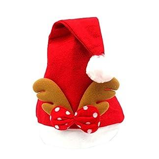 NANIH Home Lindo Elk Astas Bebé Sombrero de Navidad Adultos Sombreros de Papá Noel de Navidad Gorras Decoraciones de Navidad para el Hogar Suministros Fiesta Festiva