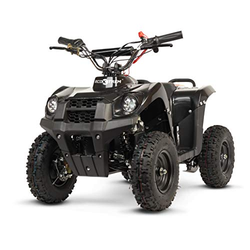 ECOXTREM Quad for children of Black color, electric, Infant, Motor 800W, battery 36V, Speed ​​up to 25km / h, autonomy up to 25km / h. Incorporates Front Lights, 2 speeds and Double Run.