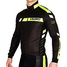 Giubbino invernale ciclismo bielastico felpato giacca pesante mtb bici Flux giallo fluo (M)