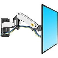 """NB North Bayou Soporte de pared para TV doble brazo giro y inclinación para televisores LCD LED Soportes Soporte de Monitor universal adecuado para todo televisores VESA 75 100 200 300 400 (F150-Plateado17""""-27"""")"""