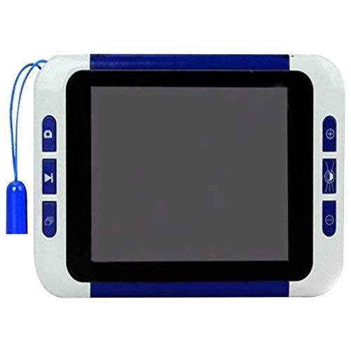 Sehhilfen HD-Lupe 3,5-Zoll-Viewer 32-fache Vergrößerung Tragbare elektronische Lupe Sehbehinderte ältere Menschen Zeitung lesen Digitale Lupe Schwarz Bürobedarf