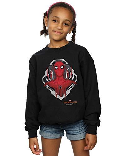 Marvel Mädchen Spider-Man Far from Home Web Tech Badge Sweatshirt Schwarz 3-4 Years -