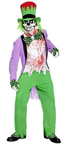 Kostüm Authentische Polizei - Smiffys, Herren Schlechter Hutmacher Kostüm, Jacke, Hose, Hut mit Haar, Hemd, Maske, Überschuhe und Handschuhe, Größe: M, 32894