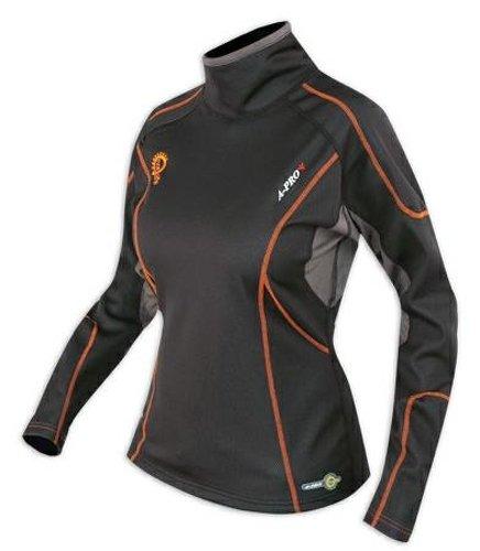 Preisvergleich Produktbild Thermoshirt Winter Atmungsaktiv Motorrad Textilshirt Funktionsshirt Damen L