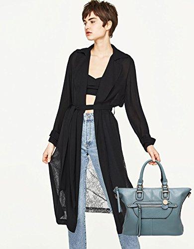 NICOLE&DORIS 2017 Neu Mode Damen Handtaschen Umhängetasche Schultertaschen Henkeltaschen Groß Tasche Wasserdicht Dauerhaft PU Braun Blau