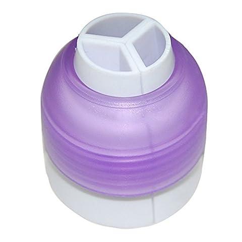 Bluelans® Baking Tri-Color Coupler Icing Piping Bag Nozzle Converter Tri-color Cream Coupler Cake Decorating