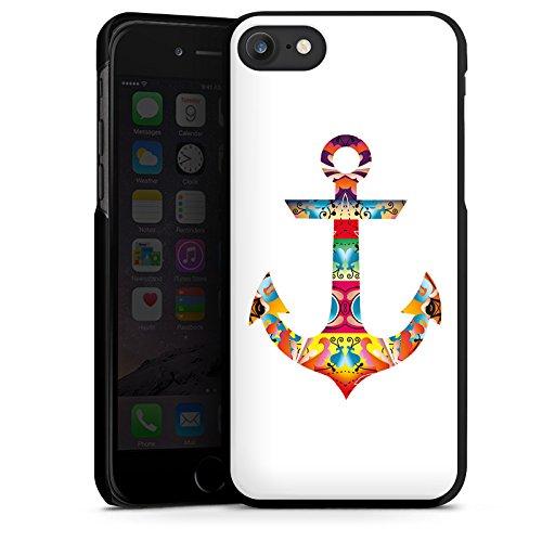 Apple iPhone X Silikon Hülle Case Schutzhülle Decorative Anchor Anker Muster Hard Case schwarz