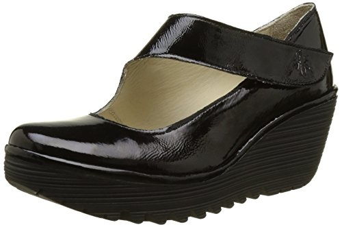 Fly London Women's Yasi682Fly Closed-Toe Heels, Black (Black Patent), 5 UK 38...