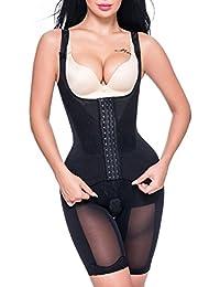 Miss Moly Body Shaper|Damen Shapewear Figurformender Mieder Body Taillenformer Brustfrei Bodysuit Schwarz/Beige/Violett
