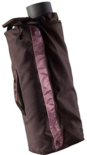 Yoga Mat Bag Pro für Damen und Herren von Slope Bags-Extra Groß Wasserdicht Fitness Martial Arts Sporttasche mit Taschen EXTRA Fächer-XL Yogamatte Sling Carrier, Braun / Pink