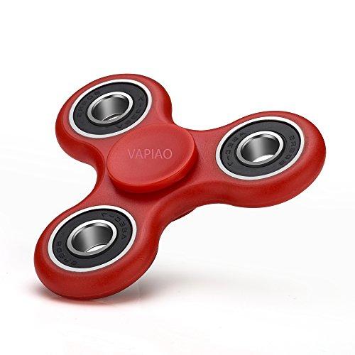 Preisvergleich Produktbild Fidget Tri (dreifach) Spinner Special Version mit 4 Hochleistungs Kugellagern Anti Stress Kreisel Hand Spielzeug in Rot von VAPIAO