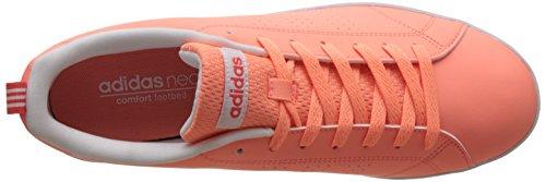 adidas Damen Vs Advantage Clean Sneakers, Core Black/Core Black/Light Orchid Orange (Sunglo/sunglo/eascor)