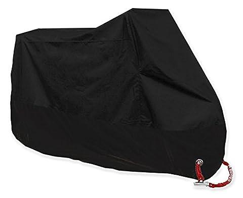 couvertures de moto Monojoy Grande housse de moto Étanche Shelter Bâche résistante aux UV Protector Rain Snow avec sac de rangement