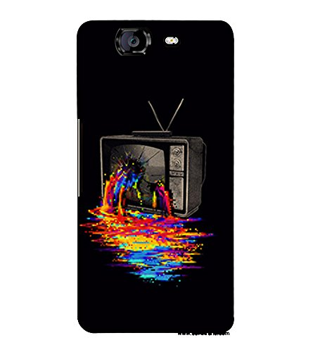 Broken Television 3D Hard Polycarbonate Designer Back Case Cover for Micromax Canvas Knight A350 :: Micromax A350 Canvas Knight  available at amazon for Rs.389