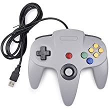 iNNEXT N64 Controller grau, Classic N64 USB Game Gamepad Nintendo 64 PC-Controller Joystick Für Windows Mac PC Raspberry Pi