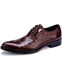 GAOLIXIA Herren Leder Business Schuhe Bullock Schuhe Mode