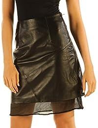Black Leather Skirts High Waist Nappa Skins NP5