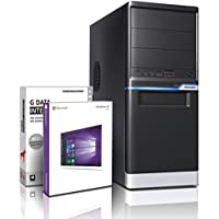 Shinobee Gaming PC Computer Tower Quad Core Windows 10 Pro / AMD A10-7700K 4x 3.8 GHz / 16GB DDR3 / 1TB HDD / 4 GB Radeon R7000 / WiFi / DVD±RW Burner / Free Office Suite #5691
