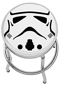 Star Wars Storm Trooper Jeu Garage Chambre Home Bar Cuisine Tabouret de bar avec repose-pieds