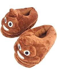 Wordmo Pantofole Emoji Cacca morbide Scarpe di Cotone Peluche Caldo Carino  Antiscivolo pistone dell interno Regalo di Natale della novità… 7a10bf45697