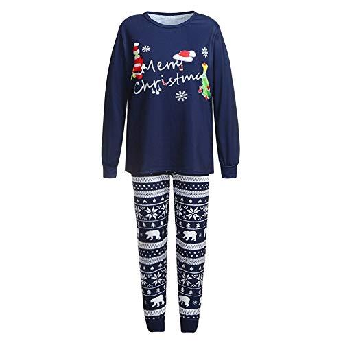 Weihnachts Zweiteiliger Schlafanzüge Familie Pyjamas Outfit, Mutter/Vater/Kind Weihnachtselch Kostüm Set Nachtwäsche Langarm Homewear Geschenk für Erwachsene - Herren 80's Cartoon Kostüm