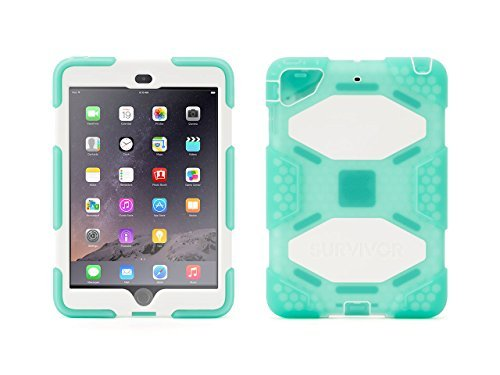 Griffin grün/weiß umgebungseinflüssen Schutzhülle + Ständer für iPad mini, mini 2und mini 3-Schutzhülle Fall mit Stand Touch ID -