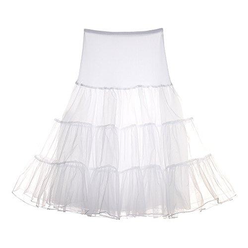 FeelinGirl Petticoat Unterrock Reifrock tüllrock petticoat krinoline kleid 50er hoopless Vintage Swing für Tüllrock Petticoat-Röcke (Einhorn Kostüme Tutu)