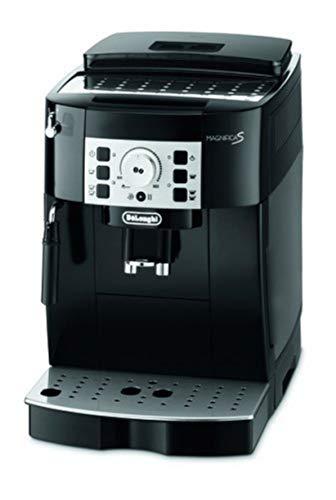 De\'Longhi Magnifica S ECAM 22.110.B – Kaffeevollautomat mit Milchaufschäumdüse, Direktwahltasten & Drehregler, 2-Tassen-Funktion, großer 1,8 l Wassertank, 35,1 x 23,8 x 43 cm, schwarz