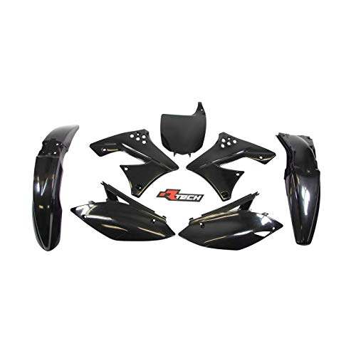 Racetech - Kit Plastique Complet Rtech Compatible Kawasaki 250 Kxf 09-12 / Black Noir