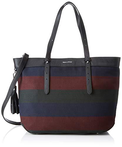 Marc O'Polo Damen Enya Schultertasche, Mehrfarbig (Multicolor) 16x30x54 cm