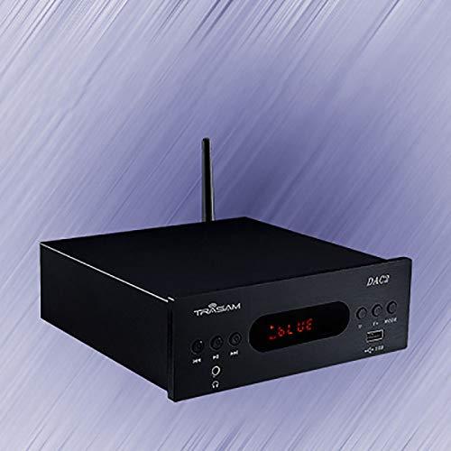 Hengyuanyi DAC2 HiFi Stereo Audio Verstärker mit Bluetooth 4.2 & 2.0 Kanal Klasse D integrierter digitaler Verstärker für Home Desktop Lautsprecher mit Bass und Höhen Steuerung & Netzteil