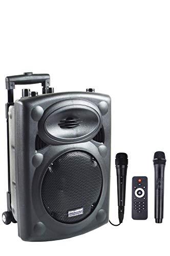DYNASONIC Dynapro - Sistema Audio Profesional Megafonia portatil (lector USB Bluetooth Radio...